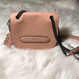Coach dusty pink small cross body leather purse